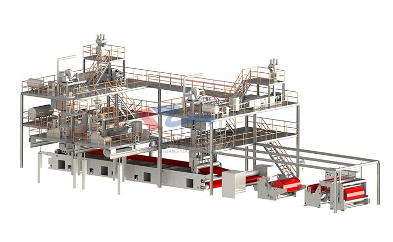 SMMS纺熔非织造布生产线