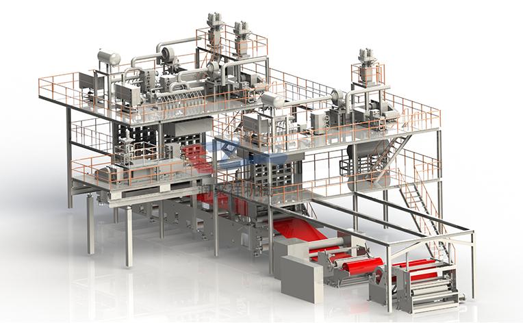 SSMS纺熔非织造布生产线