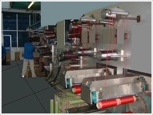 BCF牵伸纺丝机